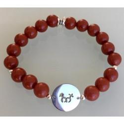 Bracelet Homme - Jaspe rouge
