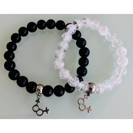 Deux Bracelets - Cristal + Tourmaline