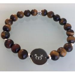 Bracelet Homme - Œil de Tigre